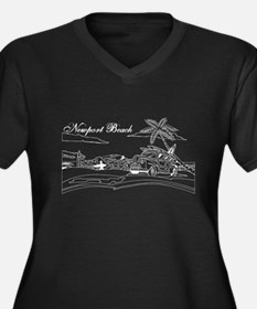 Newport Beach Surf Culture Plus Size T-Shirt