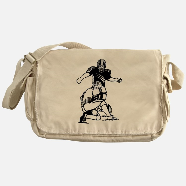 Football Kicker Messenger Bag