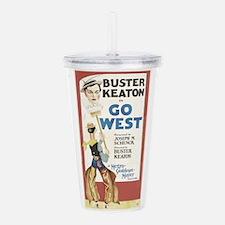buster keaton Acrylic Double-wall Tumbler