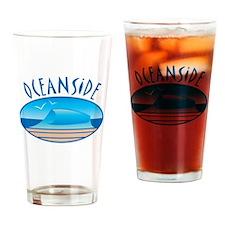 Oceanside California Drinking Glass