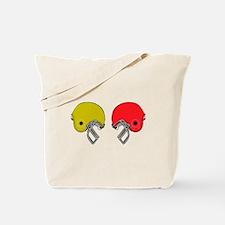 Football Helmets Tote Bag