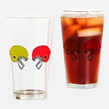 Football Helmets Drinking Glass