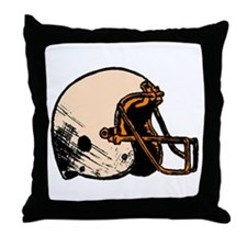 Football Helmet Throw Pillow