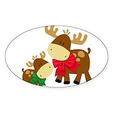 Merry Chris-Moose Decal