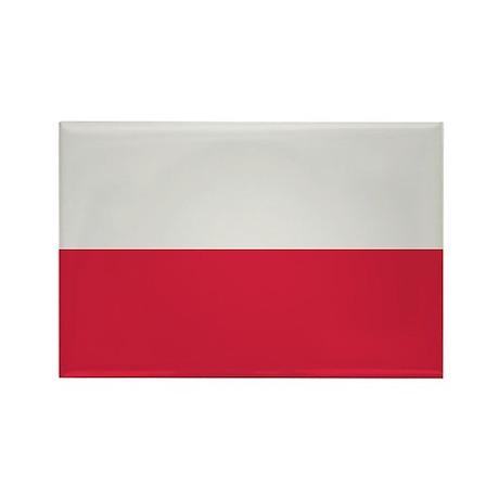 Poland Rectangle Magnet (100 pack)