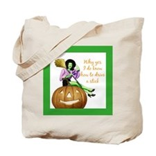 I Know How To Drive A Stick Halloween Tote Bag