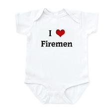 I Love Firemen Infant Bodysuit