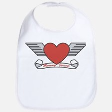 Mommy Forever (Heart & Wings) Baby Bib