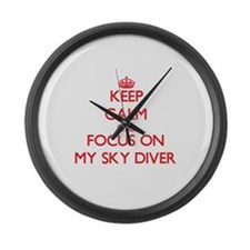 Cool Calm dive Large Wall Clock