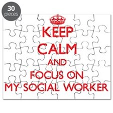 Cute I love my social worker Puzzle