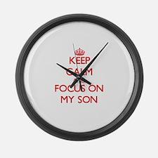 Funny Carry my wayward son Large Wall Clock