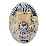 Inglewood Police Officer Oval Ornament