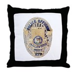 Inglewood Police Officer Throw Pillow