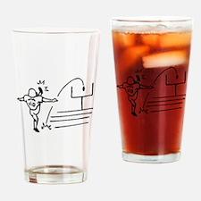 Field Goal Kicker Drinking Glass