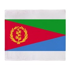 Flag Of Eritrea Throw Blanket