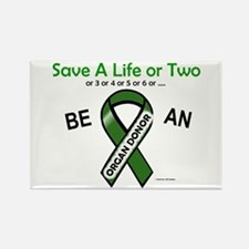 Save A Life Or Two Rectangle Magnet (100 pack)