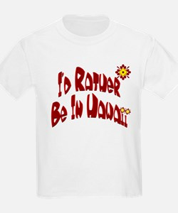 I'd Rather Be In Hawaii Ash Grey T-Shirt
