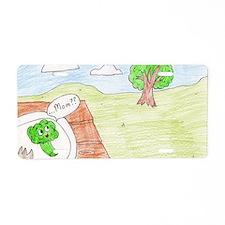 Broccoli Love Aluminum License Plate