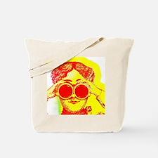 Binoculars Pop-Art Girl Tote Bag