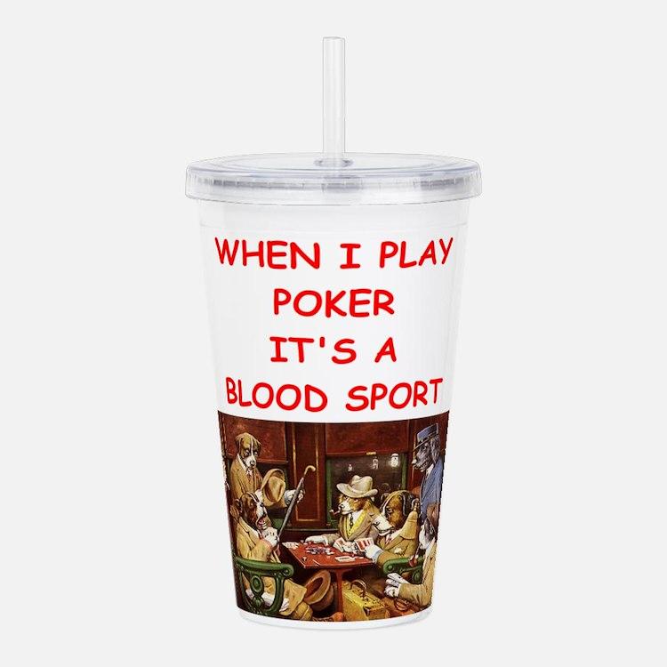 poker Acrylic Double-wall Tumbler