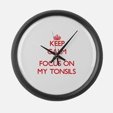 Unique Tonsils Large Wall Clock