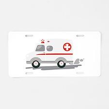 EMT Ambulance Aluminum License Plate