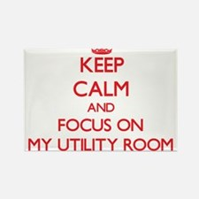 Keep Calm and focus on My Utility Room Magnets