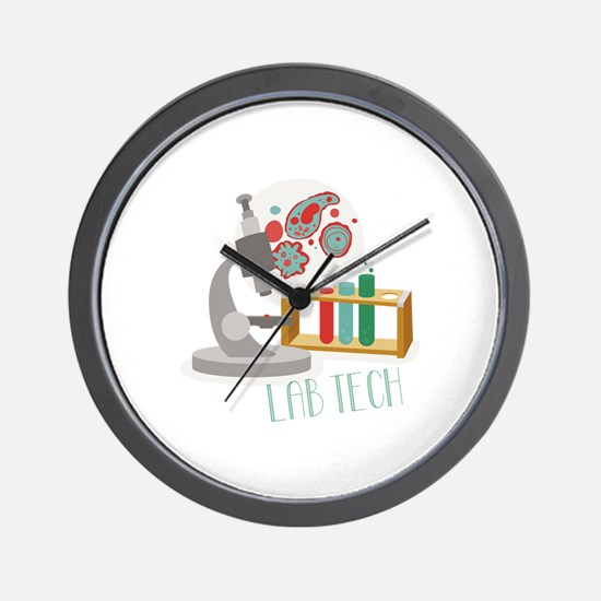 Lab Tech Wall Clock