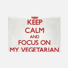 Keep Calm and focus on My Vegetarian Magnets