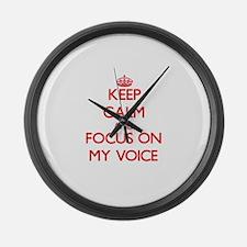 Funny Keep calm call mom Large Wall Clock