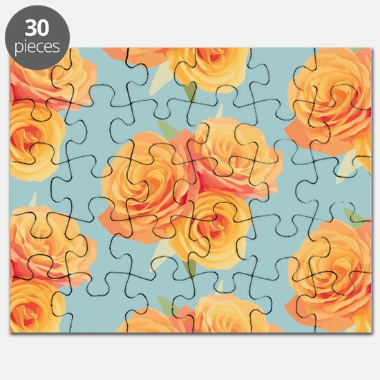 Funny Orange flowers Puzzle