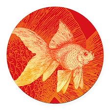 Goldfish Round Car Magnet