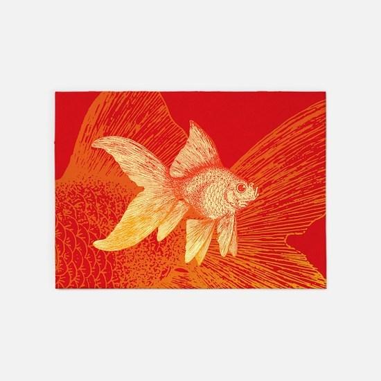 Goldfish 5'x7'Area Rug