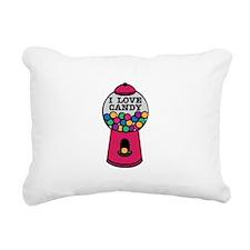 I Love Candy Rectangular Canvas Pillow