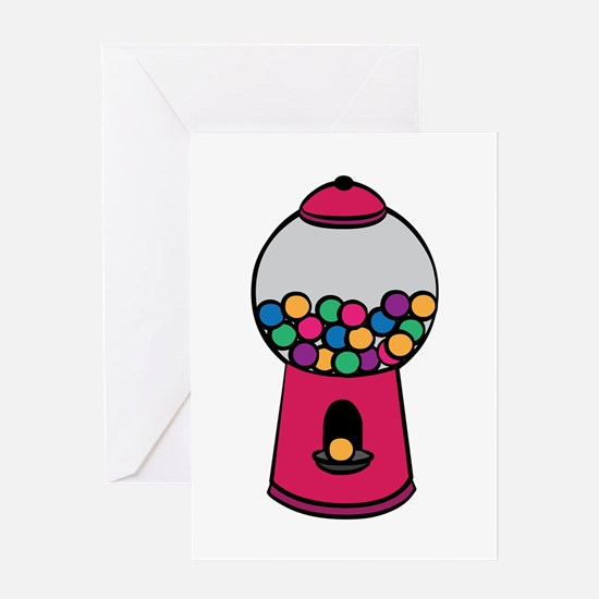 Gumball Machine Greeting Cards