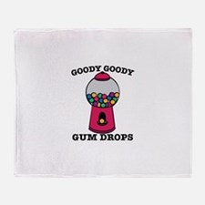 Goody Goody Gum Drops Throw Blanket