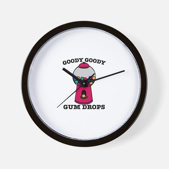 Goody Goody Gum Drops Wall Clock