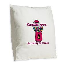 So Sweet Burlap Throw Pillow