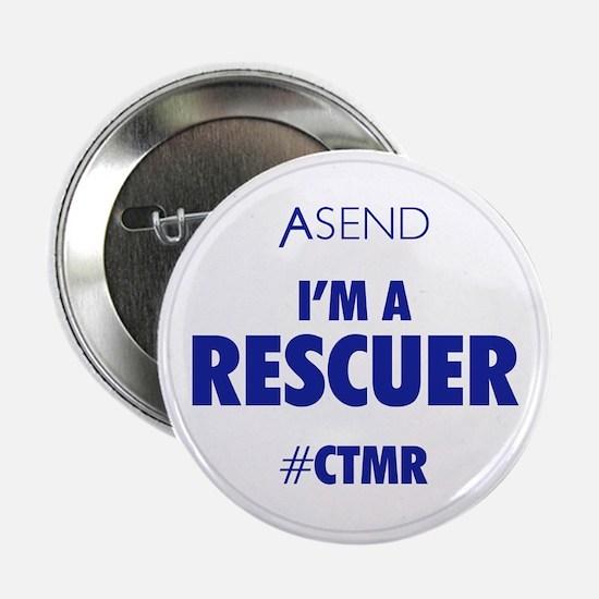 """I'm A Rescuer White 2.25"""" Button"""