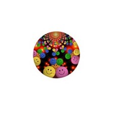 Smiley Faces Jamboree Mini Button