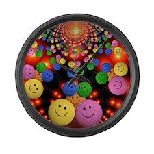 Smiley Faces Jamboree Large Wall Clock