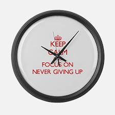 Keep calm up Large Wall Clock