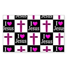 I LOVE JESUS Decal
