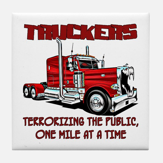 Truckers-Terrorizing The Public, One Tile Coaster