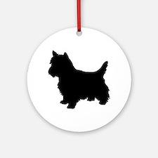 Cairn Terrier Black 1C Ornament (Round)
