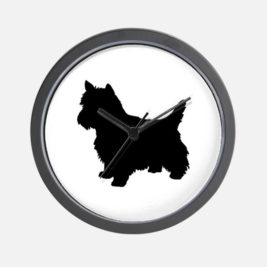 Cairn Terrier Black 1C Wall Clock