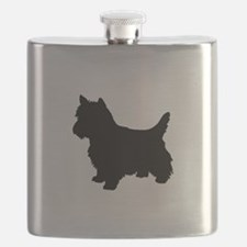 Cairn Terrier Black 1C Flask