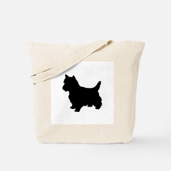 Cairn Terrier Black 1C Tote Bag