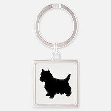 Cairn Terrier Black 1C Keychains