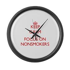 Cute Nonsmoker Large Wall Clock